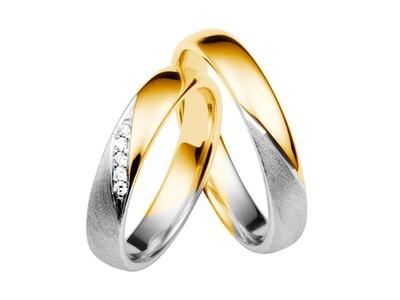 EHERINGSET WEISS GELB GOLD BICOLOR RING 585 / 000 GOLDSCHMIEDE JUWELIER EDER FELDBACH