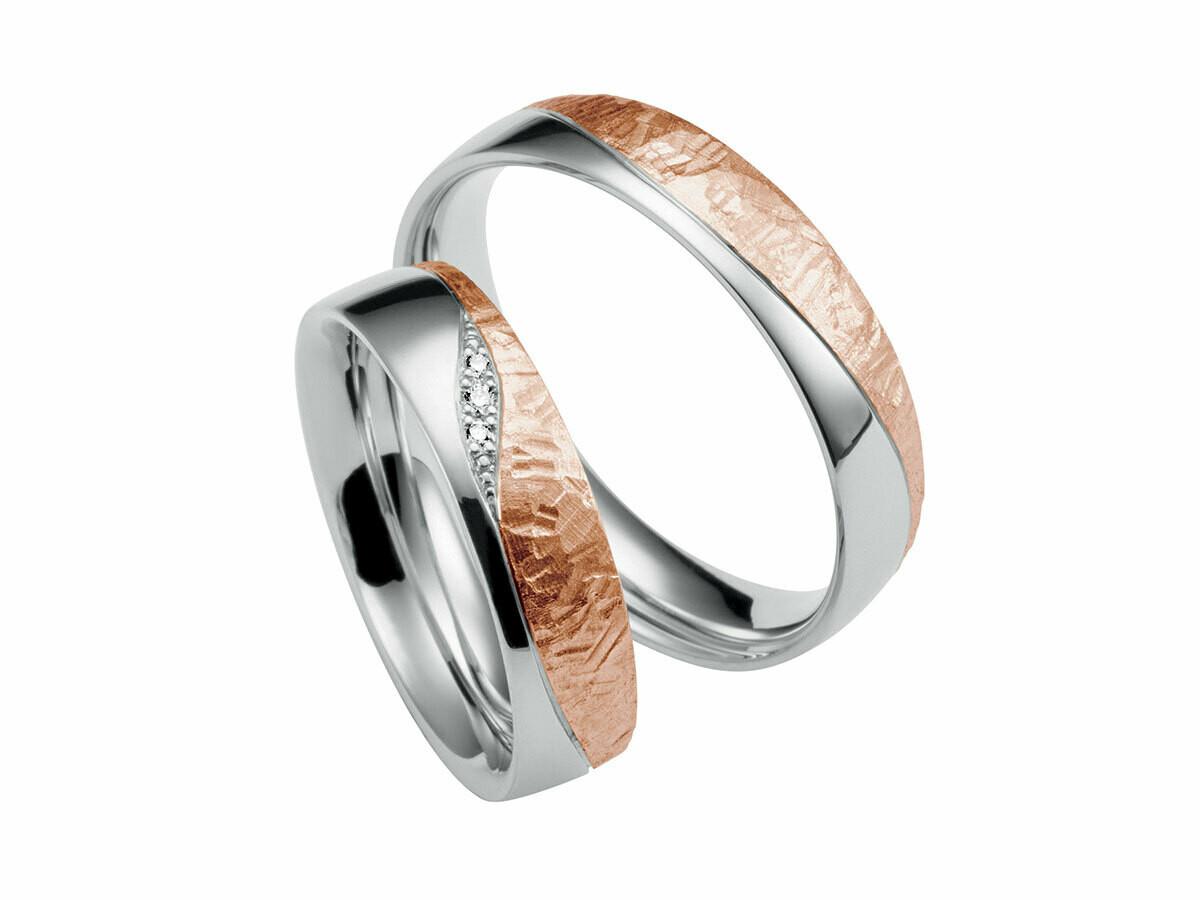 EHERINGSET GELB WEISS ROT GOLD BICOLOR RING 585 / 000 GOLDSCHMIEDE JUWELIER EDER FELDBACH