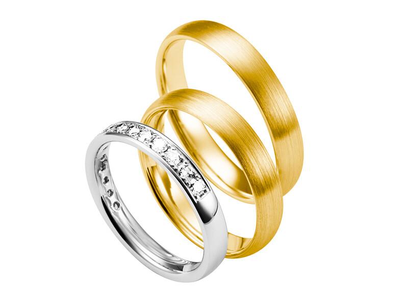 EHERINGSET  Weißgold GELBGOLD RING 585 / 000 GOLDSCHMIEDE JUWELIER EDER FELDBACH