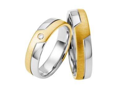 Eheringe Set Weißgold Gelbgold Trauringe Ringe