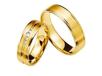 Eheringe Set Gelbgold Trauringe Ringe