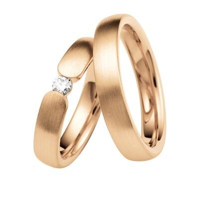 Eheringe Set Mittelgold Roségold Trauringe Ringe