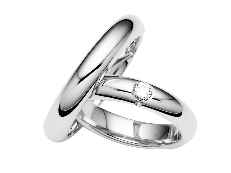 Eheringe Set Weißgold Trauringe Ringe