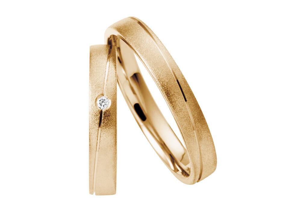 Eheringe Set Mittelgold Trauringe Ringe