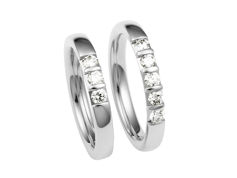 Damen Eheringe Weißgold Trauringe Ringe