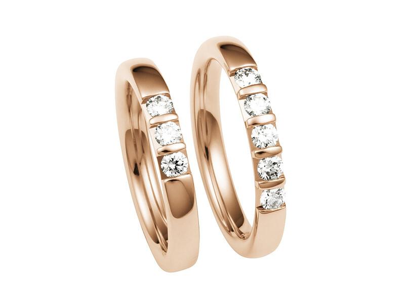 Damen Eheringe Mittelgold Trauringe Ringe