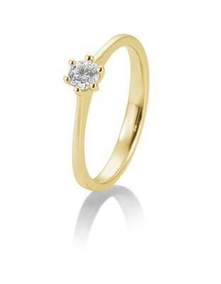 Verlobungsring Gelbgold 585 0,20ct w/si Solitär