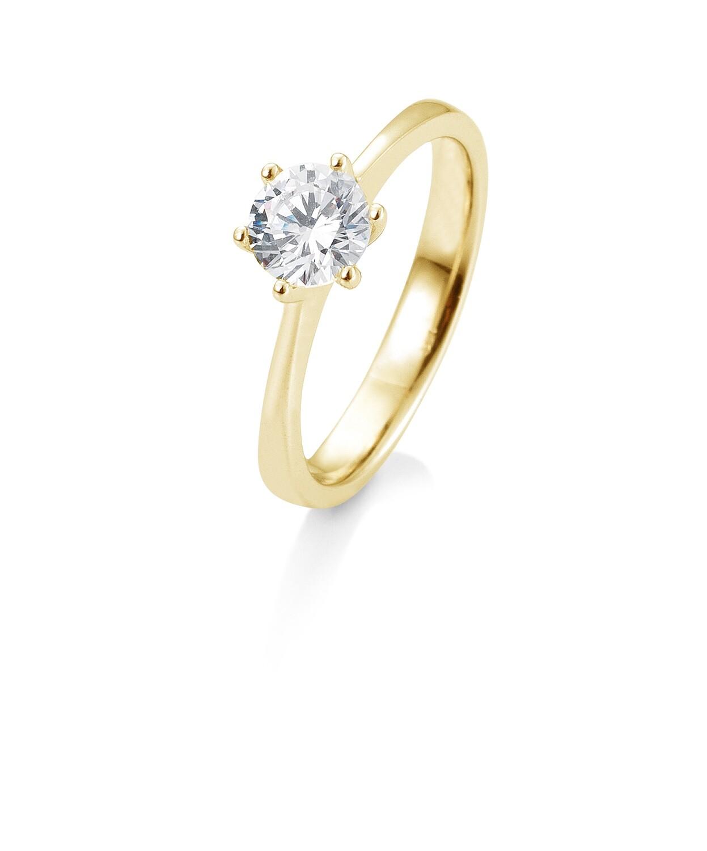 Verlobungsring Gelbgold 585 1,00ct tw/si Solitär GIA