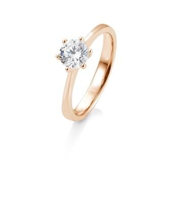 Verlobungsring Rotgold 585 1,00ct tw/si Solitär GIA