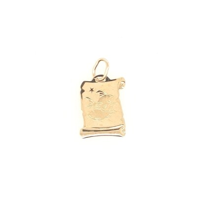 Fisch Sternzeichen Anhänger Gold 585/000