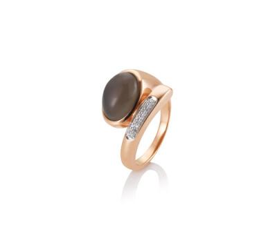 Mondstein Ring Rosegold 0.10ct tw/si