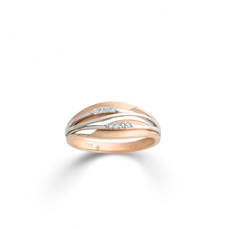 Ring · Rotgold 585 · Brillant 0,07CT H/SI