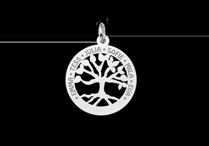 Familienanhänger aus Silber klein