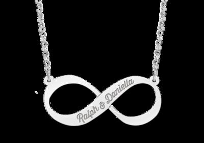 Silber Infinity Kette mit Gravur
