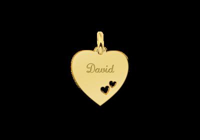 Gold Herz Anhänger für Kette - Herzchen