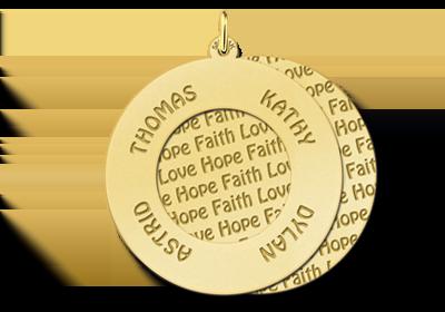 Goldener Tree of Life Anhänger - Familie
