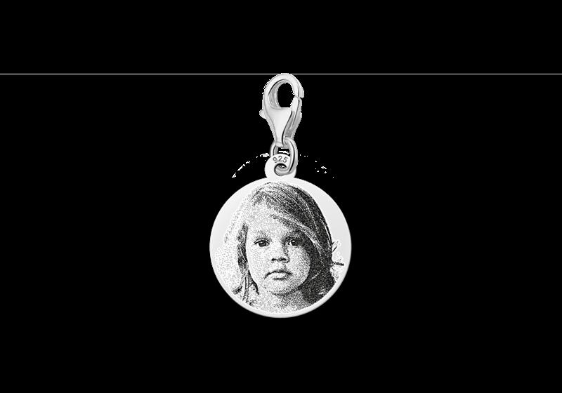 Charm Silber mit Fotogravur