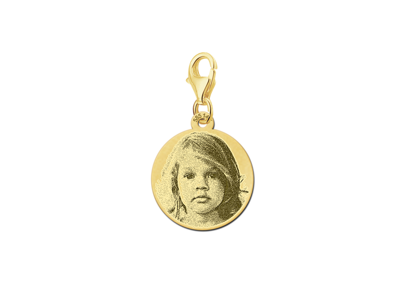 Charm Gold mit Fotogravur