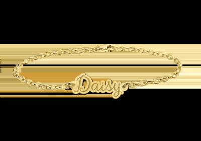 Armband aus Gold mit Namen
