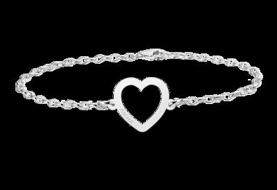 Silbernes Armband mit Herz