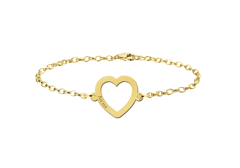 Goldenes Armband mit Herz