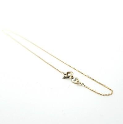 Damenkette Gelbgold 42 cm