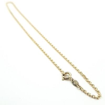 Damenkette Gelbgold 45 cm