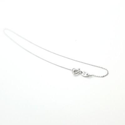Damenkette Weißgold 45 cm