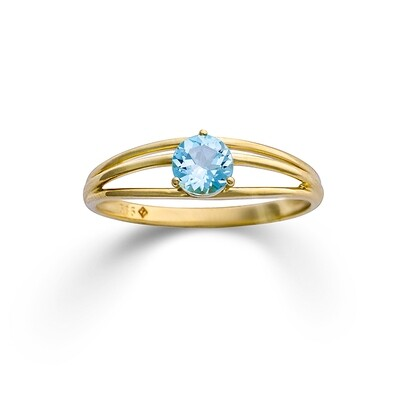 Ring Topas blau Gelbgold 585/000