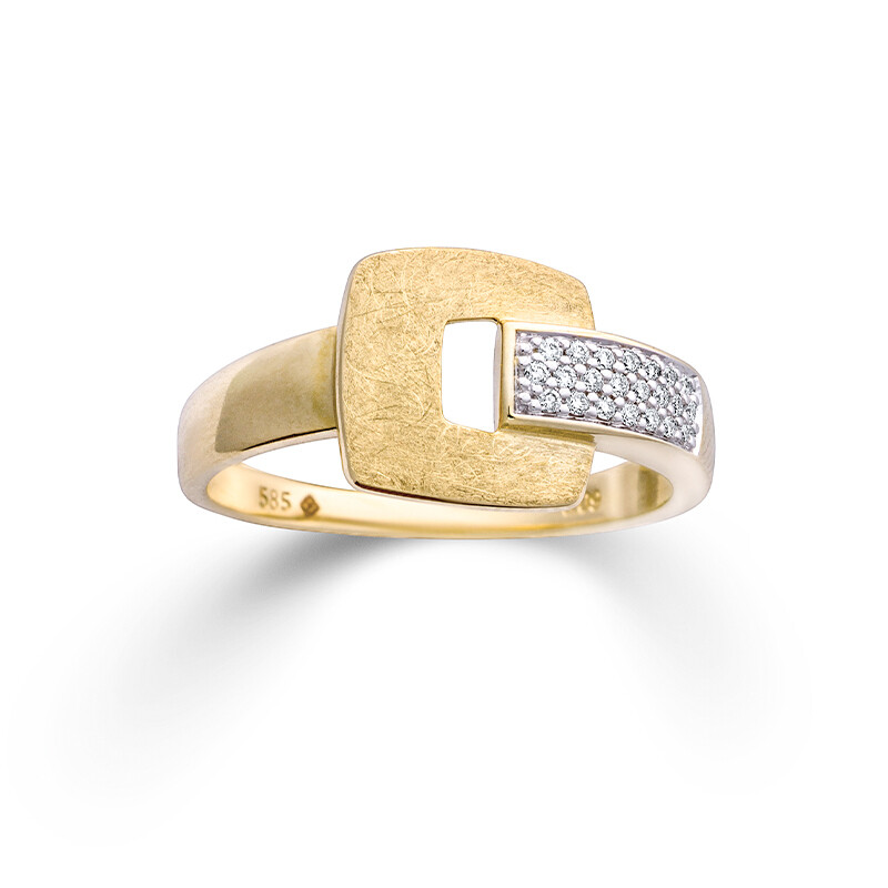 Ring   Gelbgold 585  Diamant 0.09ct H/SI