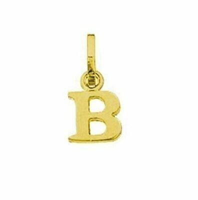 Anhänger Buchstabe B, 585 Gelbgold, 6mm, schlicht