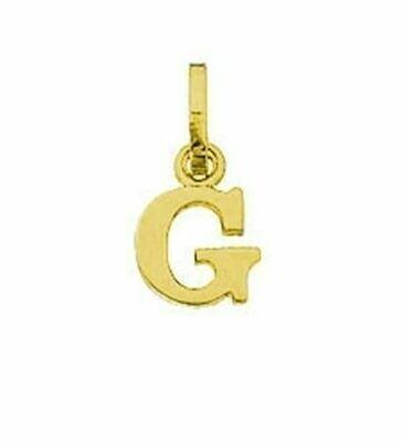 Anhänger Buchstabe G, 585 Gelbgold, 6mm, schlicht