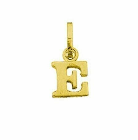 Anhänger Buchstabe E, 585 Gelbgold, 6mm, schlicht