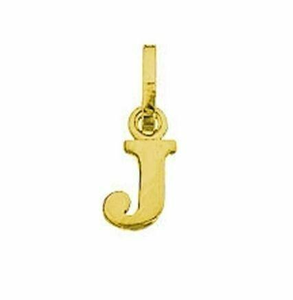 Anhänger Buchstabe J, 585 Gelbgold, 6mm, schlicht