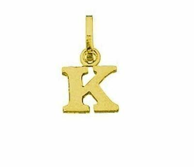 Anhänger Buchstabe K, 585 Gelbgold, 6mm, schlicht