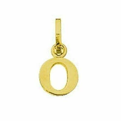 Anhänger Buchstabe O, 585 Gelbgold, 6mm, schlicht