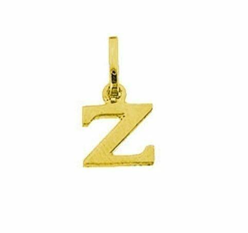 Anhänger Buchstabe Z, 585 Gelbgold, 6mm, schlicht