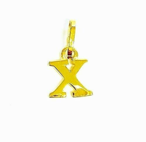 Anhänger Buchstabe X, 585 Gelbgold, 6mm, schlicht