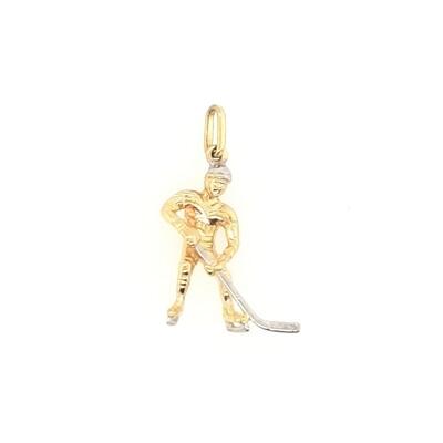 Anhänger Eishockey Spieler Gold 585