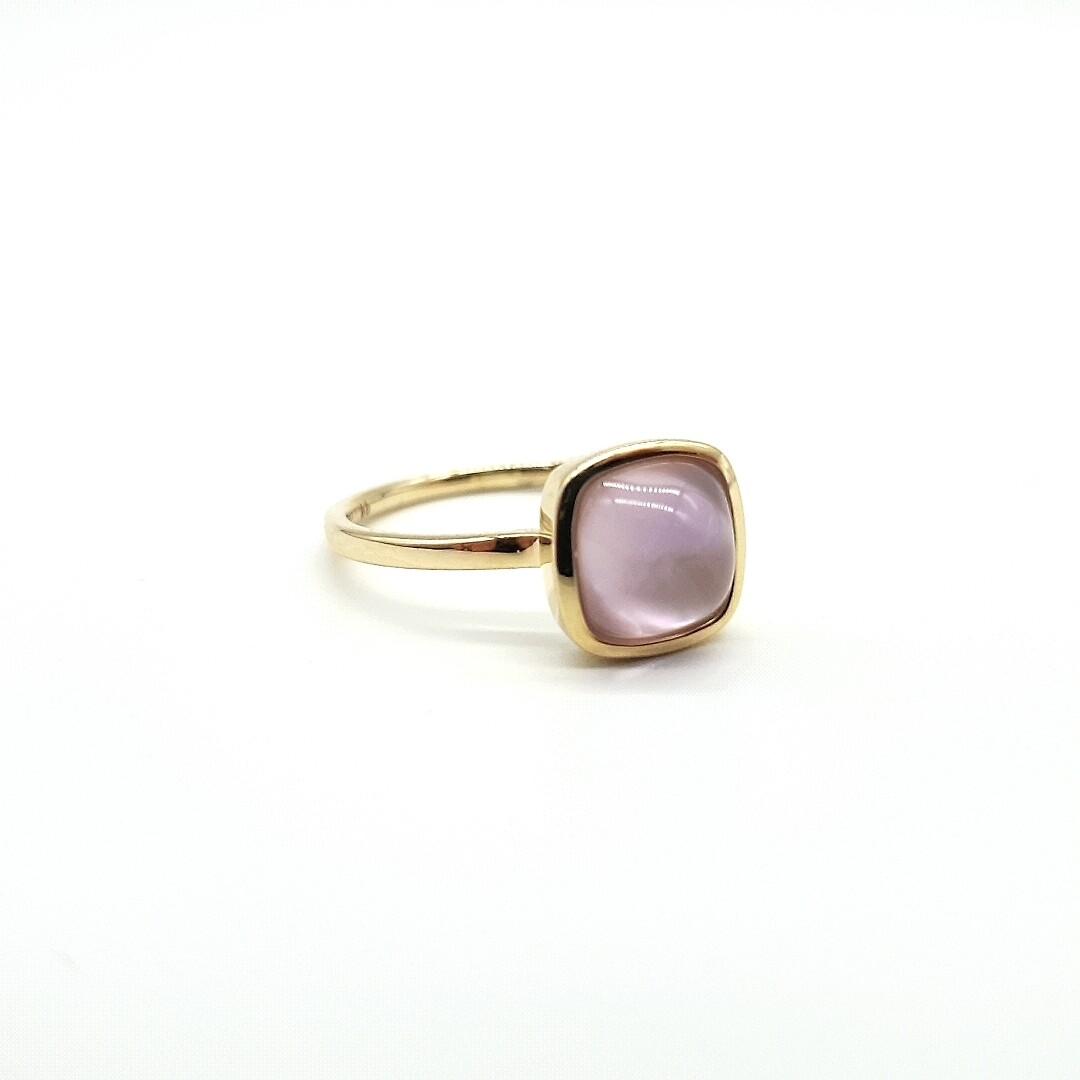 Gold Ring Amethyst und Perlmutt 585 / 000