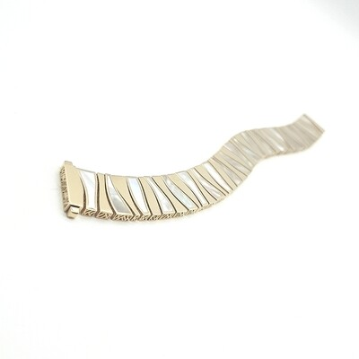 Gold Armband mit Perlmutt