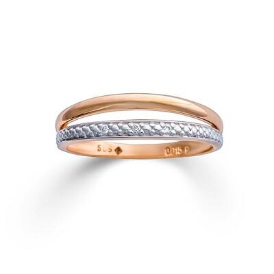 Gold 585 Ring jeweils mit Brillanten 0,015ct H/P