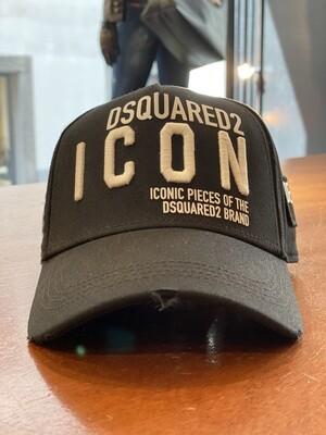 DSQUARED2 Cap - ICON DEAN & DAN black/white