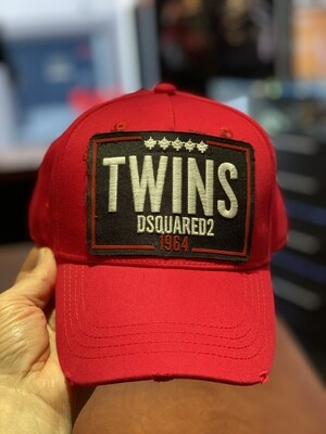 DSQUARED2 Cap - TWINS red/black