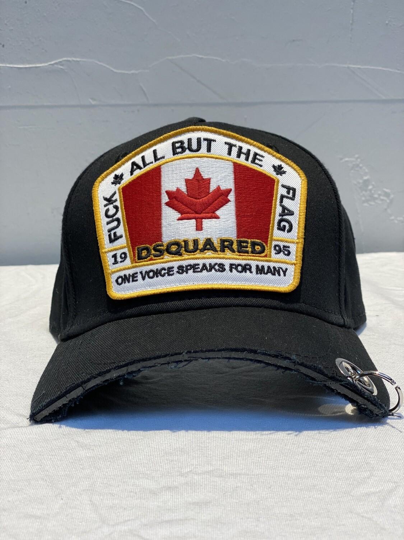 DSQUARED2 - Cap FUCK FLAG PIERCING, black