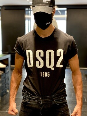 D2 - T-Shirt DSQ2 1995, black