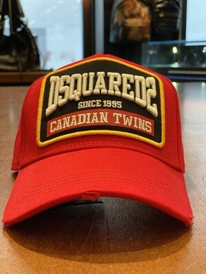 DSQUARED2 • Cap CANADIAN TWINS, red