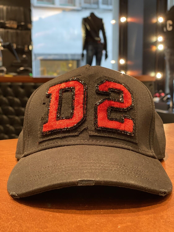 D2 - Cap BEADS D2, black-red