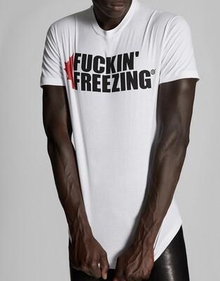 D2 T-Shirt FUCKIN' FREEZING, white