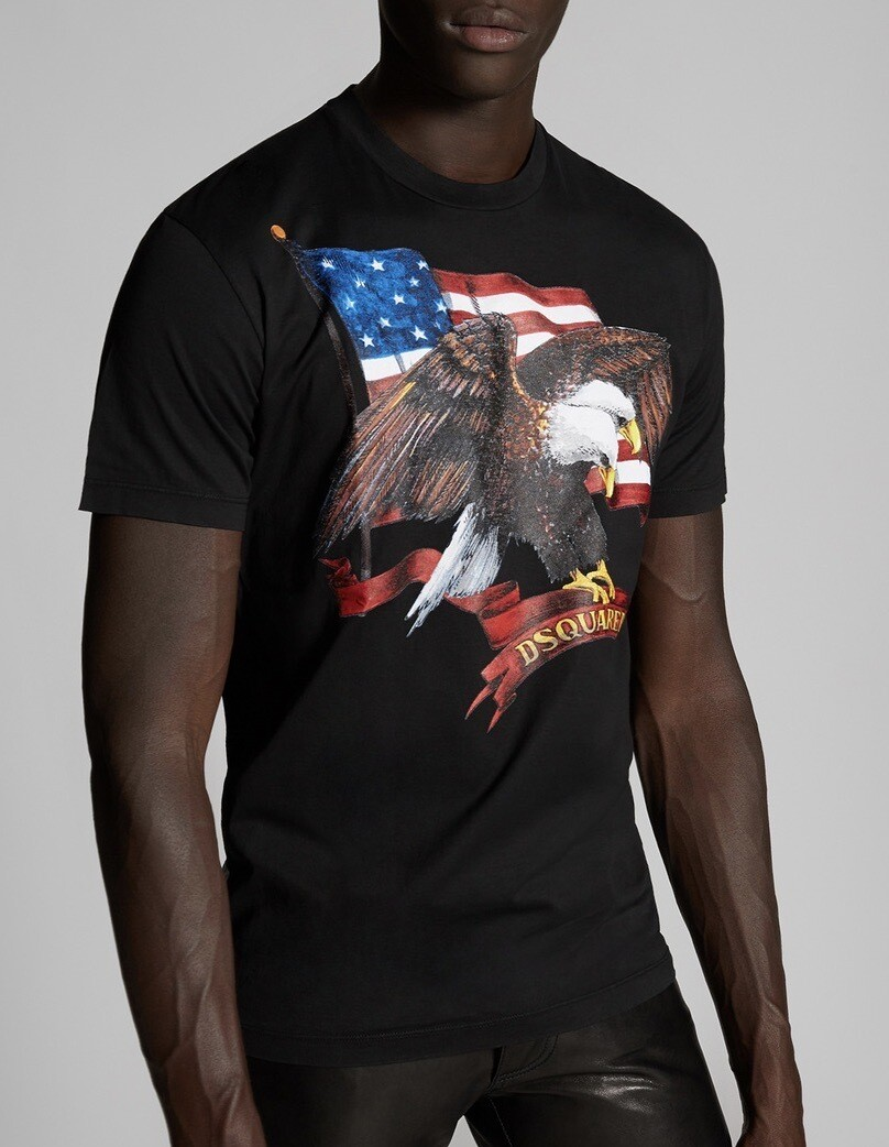 D2 T-Shirt EAGLE, black